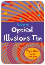 USBORNE : OPTICAL ILLUSIONS TIN (WIPE CLEAN CARDS WITH PEN) HC