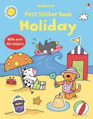 USBORNE : FIRST STICKER BOOK HOLIDAY (+ STICKERS) Paperback