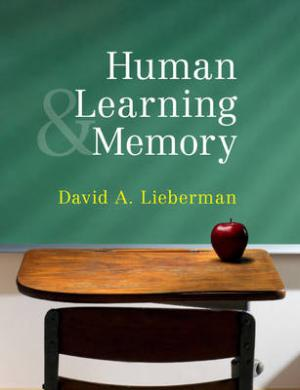 HUMAN LEARNING AND MEMORY Paperback