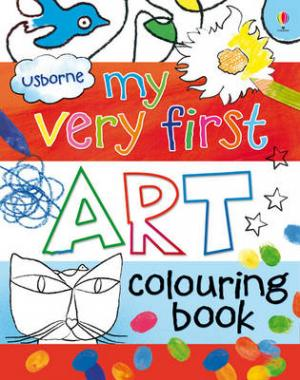 USBORNE : MY VERY FIRST ART COLOURING BOOK Paperback
