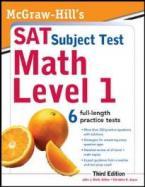 MCGRAW-HILL'S SAT SUBJECT TEST MATH LEVEL 1 3RD ED PB