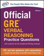 OFFICIAL GRE VERBAL REASONING PRACTICE QUESTIONS: 1 PB