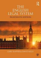 THE ENGLISH LEGAL SYSTEM 18TH ED Paperback
