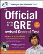 GRE: THE OFFICIAL GUIDE TO THE REVISED GENERAL TEST WITH CD-ROM Paperback