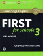 CAMBRIDGE ENGLISH FIRST FOR SCHOOLS 3 SELF STUDY PACK (+ DOWNLOADABLE AUDIO) W/A