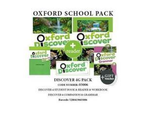 OXFORD DISCOVER 4 G PACK (Student's Book + Workbook + GRAMMAR + COMPANION + READER + GIFT VOUCHER) - 03006
