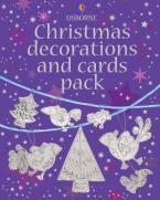 USBORNE : CHRISTMAS DECORATIONS AND CARDS PACK (+ STICKERS) HC