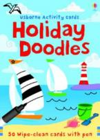 USBORNE ACTIVITIES : HOLIDAY DOODLES 50 WIPE - CLEAN CARDS WITH PEN
