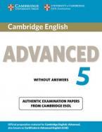 CAMBRIDGE CERTIFICATE IN ADVANCED ENGLISH 5 Student's Book WO/A @