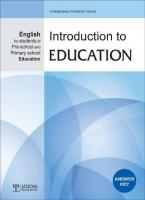 Introduction to Education - ANSWER KEY