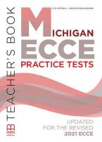 MICHIGAN ECCE PRACTICE TESTS Teacher's Book UPDATED 2021