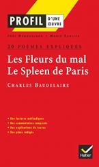 PROFIL D'UNE OEUVRE LES FLEURS DU MAL - LE SPLEEN DE PARIS : 20 POEMES EXPLIQUES  Paperback